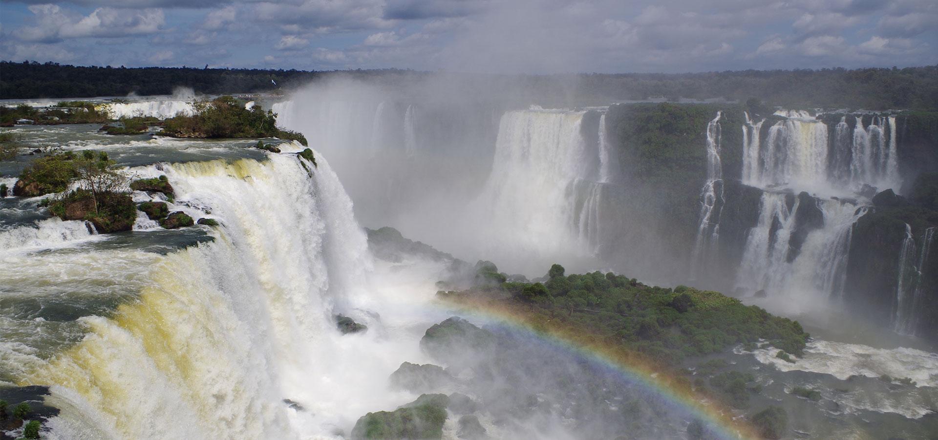 Brasilianische Seite der Iguazu Wasserfälle Südamerika