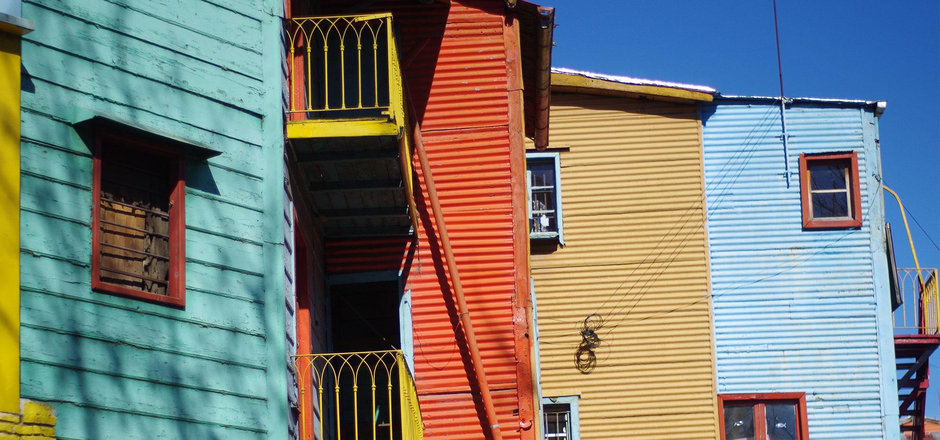 Bunte Häuser La Boca Buenos Aires Südamerika