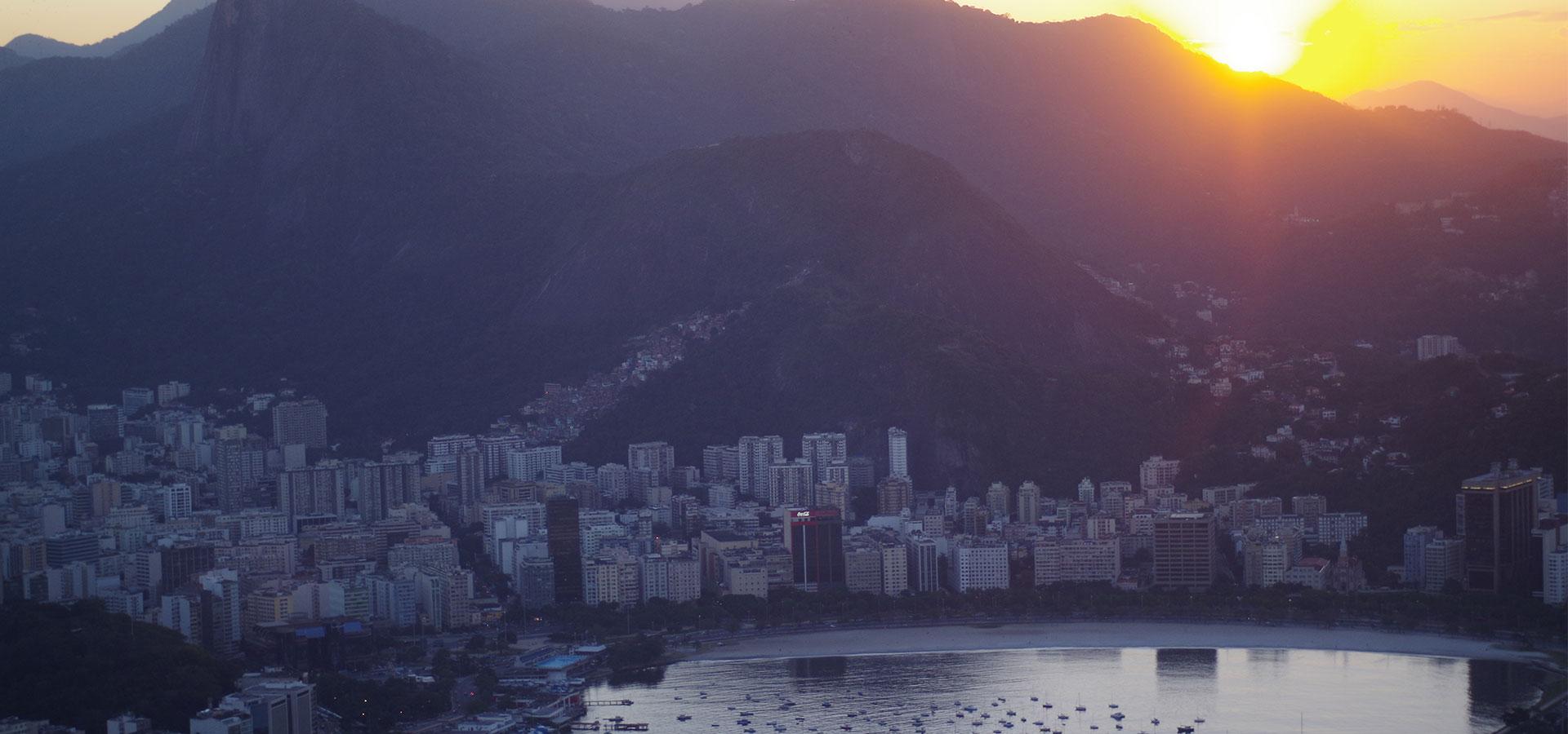 Rio de Janeiro Bucht Sonnenuntergang