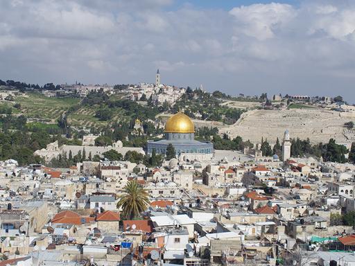 Ausblick auf Tempelberg Jerusalem Israel Reiseroute